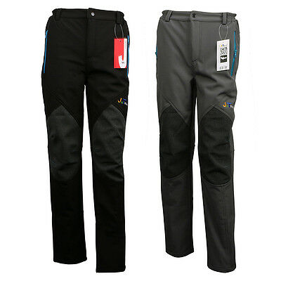 New Mens Soft shell Outdoor Pants Waterproof Breathable Hiking Outdoor Trousers