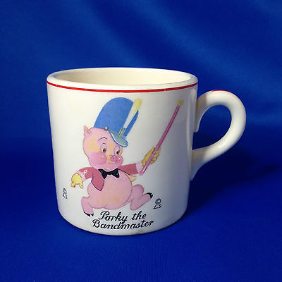 RARE 1937 Porky Pig The Bandmaster Mug Cup - Leon Schlesinger - Edwin M Knowles