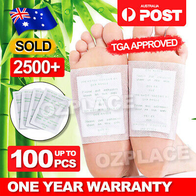 Premium Detox Foot Patches Pad Natural Plant Toxin Removal 100 Sticky Adhesives
