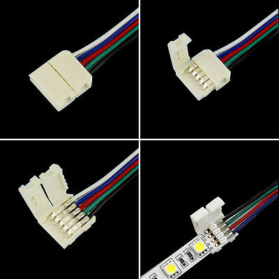 4Pin/5Pin RGB/RGBW Connectors with Cable For 5050 RGB/RGBW LED Strip Light