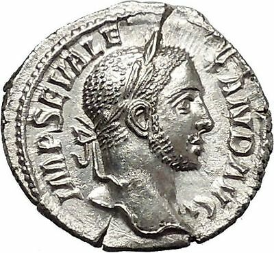 SEVERUS ALEXANDER Rome mint Silver Ancient Roman Coin Liberality Cult  i46561