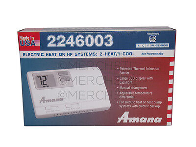 A/C Amana 2246003 Non-Programmable 2-Stage Heat 1-Stage Cool Thermostat AY7816