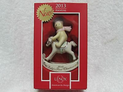 Lenox 2013 Dated  Winnie the Pooh Baby's 1st Christmas by 2013 Disney's Ornament