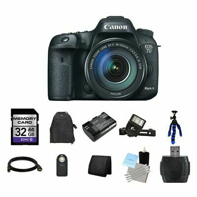 Canon EOS 7D Mark II DSLR Camera w/18-135mm Lens 32GB Full Kit