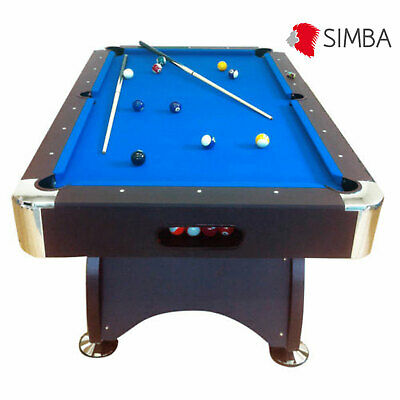 TAVOLO DA BILIARDO + ACCESSORI PER CARAMBOLA - PANNO BLU - NUOVO -billiard table
