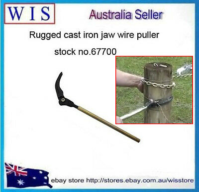 Easy Wire Puller for Plain and Barbed Wire,Bar Wire Strainer Puller,Zinc Plated