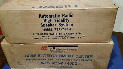 Vintage Home Entertainment Center Stereo System. AUTOMATIC RADIO.