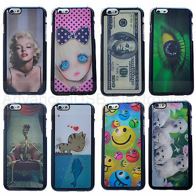 3D Hologram Changing Graphic Cover Case for iPhone 4 4S 5 5S 5C 6 4.7'- Monroe
