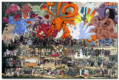Naruto Shippuden All Characters Anime Game Silk Posters 24x36inch