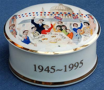 Sevarg Bone China Trinket Pot To Celebrate Peace in Europe 1945-1995