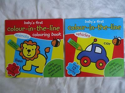 Baby's First Colouring Book - Colour-In-The-Line - From 12 Months - New