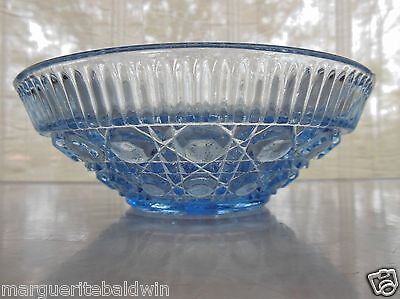 "Indiana Federal Glass Ice Blue Windsor 7 1/2"" Bowl"