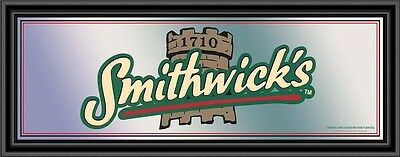 Smithwick's Beer Framed Pub Mirror Black Frame 32 X 12