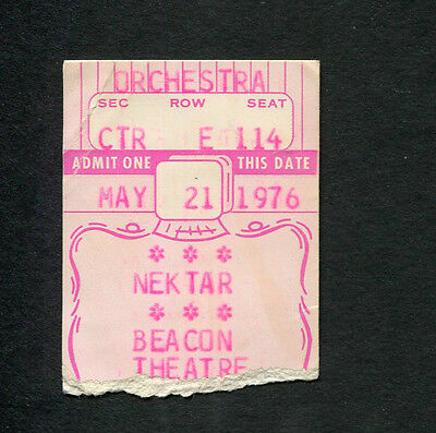 Original 1976 Nektar concert ticket stub Beacon Theatre NY Remember The Future