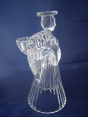 """Lead Crystal Angel Taper Candle Holder  7 1/4"""""""
