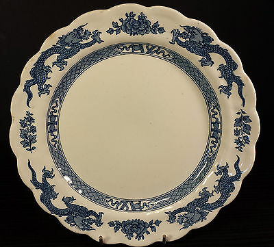 TWO OLD FASHIONED VINTAGE BOOTHS DRAGON BLUE & WHITE SIDE PLATES