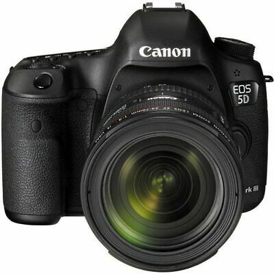 Canon EOS 5D Mark III 22.3 MP DSLR Camera + EF 24-70mm f/4 L IS Lens Kit (Black)