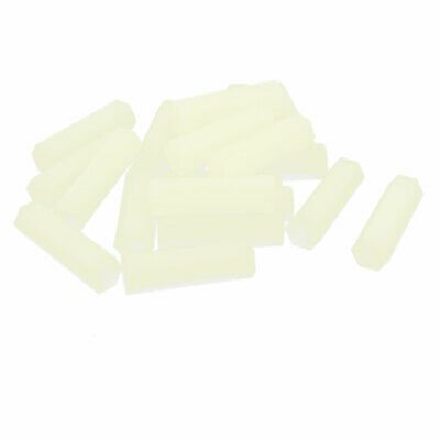20 Pack 25mm Length M4 Female Thread Nylon Hexagonal PCB Spacer Standoff Nut