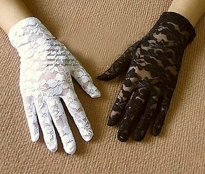 Sexy Elegant Ladies Short Lace Gloves Costume Wedding Fancy Dress Party Driving
