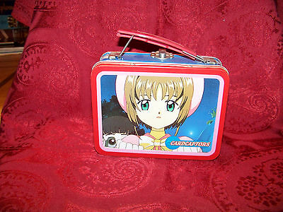 Cardcaptors Anime Mini Lunchbox 4 1/4 Inches Tall 2 1/2 Wide 5 1/2 Long  Retired