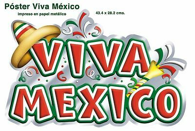 Lot of 5 ! VIVA MEXICO POSTERS !!  SUPER COOL  DECORATION   AWESOME!