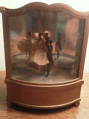 Vintage Dancing couple Music Box-Cody Musical Creations antique  rare color