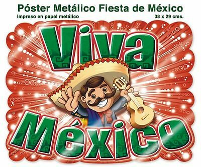 Lot of 5 VIVA MEXICO POSTERS !!  SUPER COOL  DECORATION   AWESOME!
