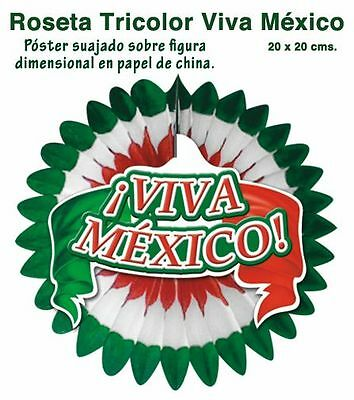Lot of 5 VIVA MEXICO! ROSETTES  !!  SUPER COOL  DECORATION   AWESOME!