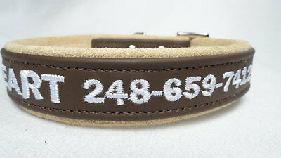 One Inch Adjustable and Customized Dog Collar