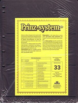 10  Prinz System 3  strip double sided Pages stock sheet