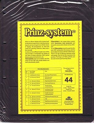 10  Prinz System 4  strip double sided Pages stock sheet