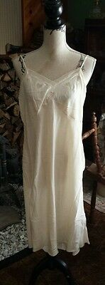 Vintage ♡ 1800's ♡ VICTORIAN HAND MADE SILK SLIP WITH LACE