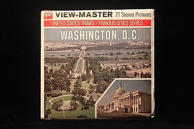 """Washington D.C. Viewmaster 1960's w/3 Reels & Booklet """"""""White House, Pentagon"""""""