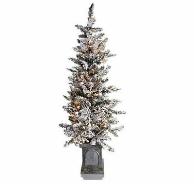 Colin Cowie 4ft Flocked White Artificial Pre-Lit Tree with Base