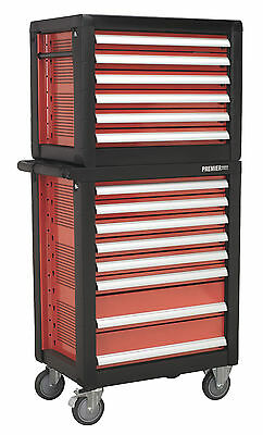 Sealey Topchest & Rollcab Combination 14 Drawer with 1233pc Tool Kit