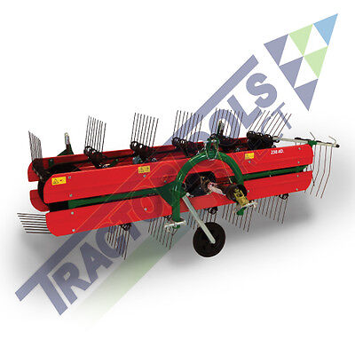 T120 Belt Hay Rake/Tedder by Molon, PTO powered for compact tractors