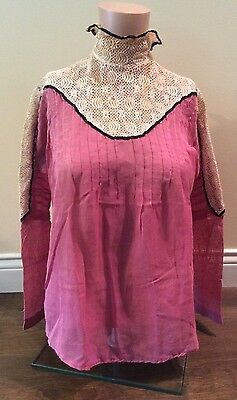 ANTIQUE EDWARDIAN DRESS TOPPER BLOUSE - Early 1900's - STUNNING!