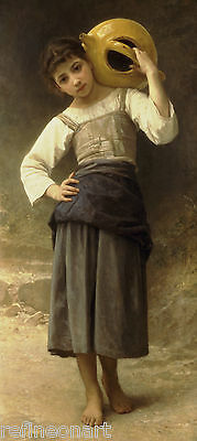 Young Girl Going to the Spring by William Bouguereau Giclee Print on Canvas
