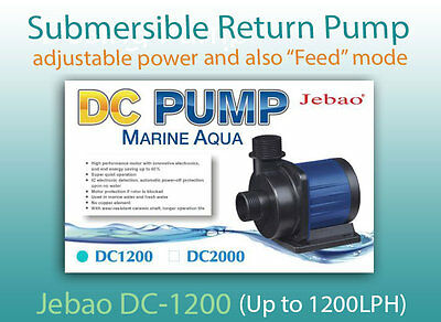Jebao DC-1200 return pump with conrtoller and adjustable power (Up to 1200 LPH)