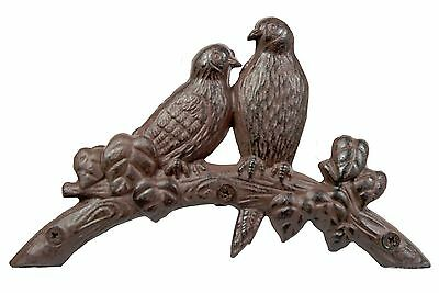 Hose Holder Cast Iron Birds Decorative Hose Reel Hanger Antique Rust