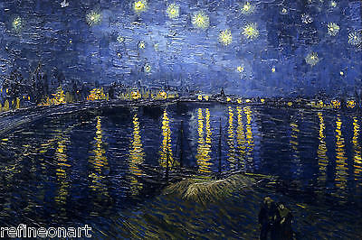 "Starry Night Over the Rhone by Vincent Van Gogh Giclee Canvas Print 16""x20"""
