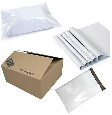Mailing Bags - Quality Smooth White Poly Bags - Plastic Packaging Black interior
