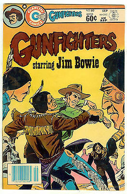 Gunfighters #80 (Charlton 1983, fn/vf 7.0) Jim Bowie