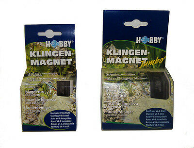 HOBBY MAGNETIC GLASS CLEANER for AQUARIUMS - Regular or Jumbo size