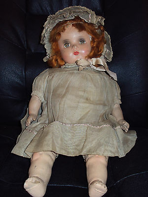 "Vintage 19"" Horsman Dolls Doll in need of TLC!"