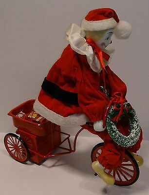 """CLOWN on the TRICYCLE with """"Santa Claus Is Coming To Town"""" music box"""