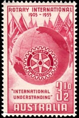 AUSTRALIA - 1955 - ROTARY INTERNATIONAL - 50th - MINT - MNH SINGLE!