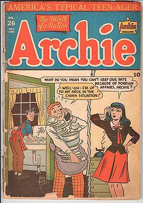 Archie #026 May 1947 Archie GD- 1.8