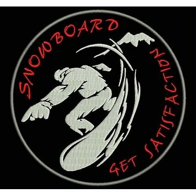 Parche Bordado SNOWBOARD.  / Embroidery patch SNOWBOARD