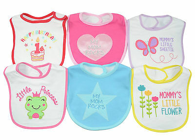 Superior Quality 100% cotton Baby Bibs Infant bibs 6 Beautiful Embroidery prints